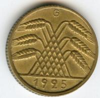 Allemagne Germany 10 Reichspfennig 1925 G J 317 KM 40 - 10 Rentenpfennig & 10 Reichspfennig