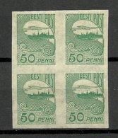 Estland Estonia 1921 Michel 31 Als 4-block MNH - Estland