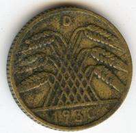 Allemagne Germany 10 Reichspfennig 1930 D J 317 KM 40 - 10 Rentenpfennig & 10 Reichspfennig