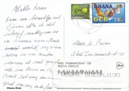 Ghana 2013 Kumasi GCB Bank Money Transfer Orange Fruit Viewcard - Ghana (1957-...)