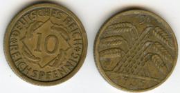 Allemagne Germany 10 Reichspfennig 1935 J J 317 KM 40 - 10 Reichspfennig