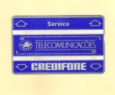 """PHONECARD S10b PORTUGAL HOLOGRAFISCH """"SERVICO CREDIFONE"""" 601L - NEW/NOT USED - Portugal"""