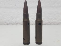 Lot De 2 Cartouches De Manipulation 7.62 X 51 FN - Armes Neutralisées