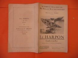 "Films FORDYS - Au Palais Rochechouart  Paris  """" LE HARPON ( Baleines  Baleiniers - Cinema Advertisement"