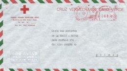 "Cabo Verde 1979 Santiago Meter Pitney Bowes-GB ""5000"" PB002 Red Cross Cover To Geneve - Kaapverdische Eilanden"