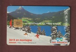 TELECARTE - Carte Téléphonique De 50 Unités - SKI FRANCE . La Montagne ça Vous Gagne  - 2 Scannes. - Francia