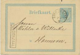 """NIEDERLANDE""""ARNH. - OLDENZ. / II"""" K2 U. RA1 """"OLDENZAAL"""" Zwei Bahnpoststpl. 5 C GA 1877 - Spoorwegzegels"""