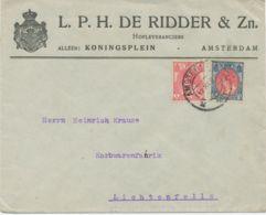 NIEDERLANDE1919 Queen Wilhelmina 5 C And 15 C, Rare Mixed Postage On Advertising Cover - Periode 1891-1948 (Wilhelmina)