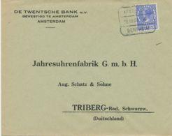 """NIEDERLANDE """"AMSTERDAM / 28 III 33 VIII / BENTHEIM"""" Selt. Bahnpost-RA3 Kab.-Bf - Spoorwegzegels"""