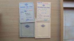 2 TESSERE  RICONOSCIMENTO AUTOMOBILE CLUB ITALIA SEZIONE DI TRIESTE - Vieux Papiers