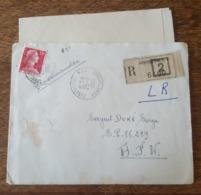 25.03.1958 Lettre Recommandée Pour SP 86239 AFN - TAD Constantine RP8 + Vignette, Timbre Marianne De Muller, Algérie RF - Algeria (1924-1962)