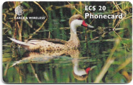 Antigua & Barbuda - C&W (Chip) - Pintail Duck - Chip Gem5 Black, 20 EC$, 2000, Used - Antigua En Barbuda
