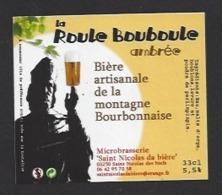 Etiquette De Bière Ambrée - La Roule  Bouboule 33 Cl  - Microbrasserie De Saint Nicolas De Biefs  (03) - Bière