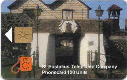 St. Eustatius (Antilles Netherlands) - Eutel - Mountains, 120Units, 11.1998, 5.000ex, Used - Antille (Olandesi)