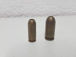 Lot De 2 Cartouches De Manipulation (9mm Et 45mm) - Armes Neutralisées