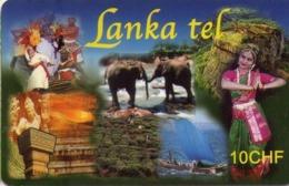 SUIZA. PREPAID. Lanka Tel. ELEPHANTS - ELEFANTES. 09.2006. CH-PRE-CCAN-26A. (004) - Tarjetas Telefónicas