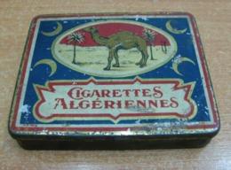 AC - ALGERIENNES CIGARETTES CIGARETTE - TOBACCO EMPTY VINTAGE TIN BOX - Boites à Tabac Vides
