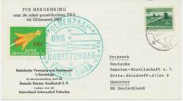 """NIEDERLANDE 1963, Kab.Raketen-Probeflug """"TR3"""" Bei OLDENZAAL, Niederlande - Luchtpost"""