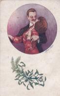 Thèmes > Illustrateurs Sager, Xavier Jeune Couple  Heureux Les Petits Cadeau Par Sager Serie 152 - Sager, Xavier