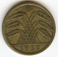 Allemagne Germany 5 Reichspfennig 1930 A J 316 KM 39 - 5 Rentenpfennig & 5 Reichspfennig