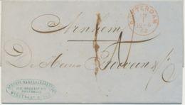 NIEDERLANDE 1862 Original Letter From Shipbroker Joh. Ooms ROTTERDAM - ARNHEM - ...-1852 Voorlopers