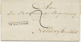 """NIEDERLANDE 1813 """"WOERDEN"""" L1 Aan De Provisionele Regering Te Noordwijkerhout - ...-1852 Voorlopers"""