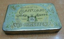 AC - GABRIEL MANTZARIS & CO CAIRO EGYPT CIGARETTES CIGARETTE - TOBACCO EMPTY VINTAGE TIN BOX - Contenitori Di Tabacco (vuoti)