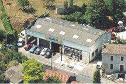 47----RARE---CASTILLONNES---Garage RENAULT---( Station Essence ELF )--voir 2 Scans - France