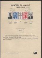 Feuillet  GENERAL De GAULLE  Oblitération Du 9 - 11 1971  à 10 H à Lille Et à 19 H à Colombey Les Deux Eglises  N° 33 - Documents Of Postal Services