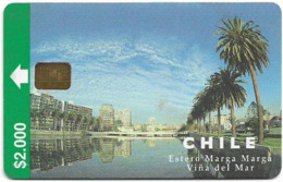 Chile - CTC - Estero Marga Marga (2nd Issue), Chip Siemens, 2.000Cp$, 04.1998, 50.000ex, Used - Chili