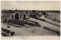 Nantes (Loire Atlantique 44) - La Gare D'Orléans Et La Loire (franchise Militaire) - Nantes
