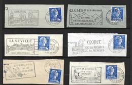FRANCE 1955/59   Lot 6  Timbres N°  1011B +  Flamme Sur Fragment - Autres