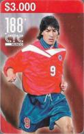 Chile - CTC - Ivan Zamorano, Football, 3.000Cp$, 06.1998, 50.000ex, Used - Chile