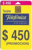 Chile - Telefónica - Promocion Nacional, 450Cp$, Exp. 12.2001, 350.000ex, Used - Chile