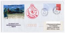 Afghanistan - Pli Illustré Du 1er Rgt Tirailleurs Pamir VI Oblitération Du BPI 240 04/12/2003 + Cachet REPFRANCE - Postmark Collection (Covers)