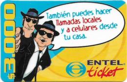 Chile - Entel - También Puedes Hacer Llamads Locales, Prepaid 3.000Cp$, Exp. 30.09.2003, Used - Chili