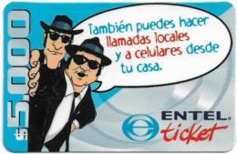 Chile - Entel - También Puedes Hacer Llamads Locales, Prepaid 5.000Cp$, Exp. 30.03.2003, Used - Chili
