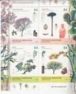 2015 Argentina Trees Arbres Medicinal Uses Health Complete Souvenir Sheet MNH - Argentinien