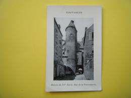 COUTANCES. La Rue De La Poissonnerie. La Maison Du XVe Siècle. - Coutances