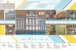 2015 Argentina Culture Center Architecture Complete Souvenir Sheet MNH - Argentinien