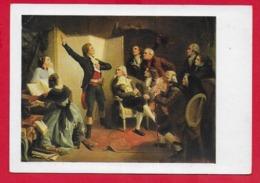 CARTOLINA NV FRANCIA - Rouget De L'Isle Canta Per La Prima Volta La Marsigliese In Casa Di Dietrich - 10 X 15 - Pittura & Quadri