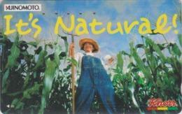 """TC Japon / 110-011 - FEMME - KOIKO KOIZUMi - KNORR AJINOMOTO ** It's Natural """"'- Actress Girl Japan Phonecard  - 6182 - Lebensmittel"""