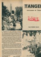 1954 : Document, TANGER, Mosquée Bouarrakia, Marché, Palais Du Sultan, Avenue L'Espagne, Immeuble, Poupée Tangéroise - Sin Clasificación