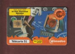 TELECARTE - Carte Téléphonique De 51 Unités - WANADOO...vous Jouez Pour Un Pack Bienvenue - 2 Scannes. - Frankrijk