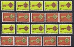 Europa Cept 1968 Luxemburg 2v (10x)** Mnh (44778) - Europa-CEPT