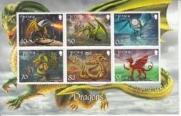 2015 Jersey Dragons Complete Souvenir Sheet MNH  @ BELOW Face Value - Jersey