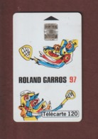 TELECARTE - Carte Téléphonique De 120 Unités - ROLAND GARROS . Championnats Internationaux De France 1997 - 2 Scannes. - France