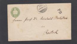 ENTIER POSTAL  DE BERN POUR ROSTOCK,1871. - Ganzsachen