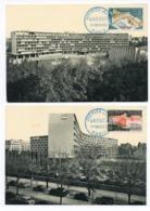 Carte Maximum 1958 - PALAIS DE L'UNESCO YT 1177 Et 1178 - 75 Paris - Maximum Cards