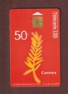 TELECARTE - Carte Téléphonique De 120 Unités - CANNES . Festival International Du Film Du 7 Au 18 Mai 1997 - 2 Scannes. - France